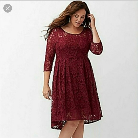 8724a101ad8 NWT Lane Bryant burgundy Lace dress🆕